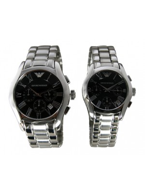 Armani His & Hers Classic Watches - AR0673 & AR0674