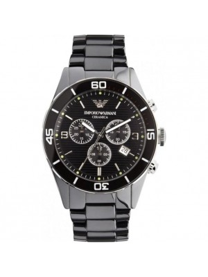 Armani Black Ceramic Chronograph Men's Watch AR1421