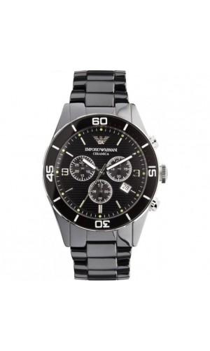 Armani Black Ceramic Chronograph Men's Watch AR1421