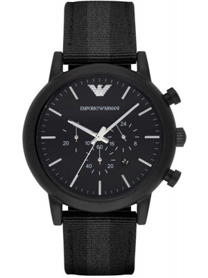 Armani Luigi Chronograph Black Dial Men's Watch AR1948