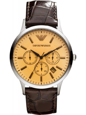 Armani Classic Chronograph Beige Dial Men's Watch AR2433