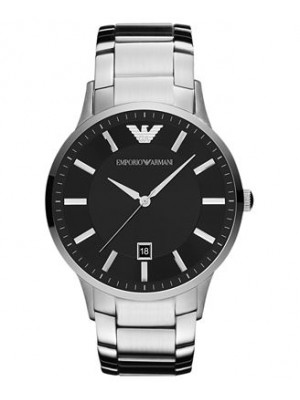 Armani Sportivo Black Dial Stainless Steel Men's Watch AR2457