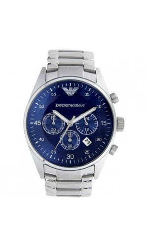 Armani Classic Chronograph Blue Dial Stainless Steel Men's Watch AR5860