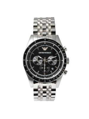 Armani Sportivo Silver Chronograph Men's Watch AR5988