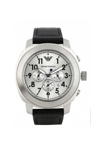 Armani Silver Black Chronograph Sports Men's Watch AR6054