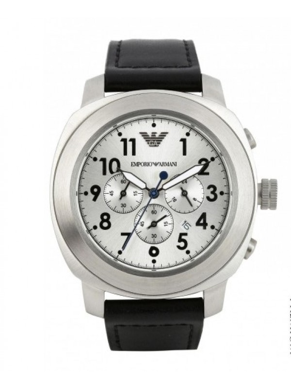 Armani Silver Black Chronograph Sports Men's Watch AR6054