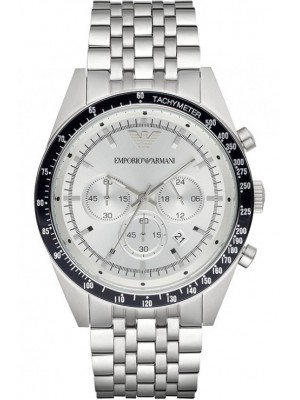 Armani Sportivo Chronograph Silver Dial Stainless Steel Mens Watch AR6073