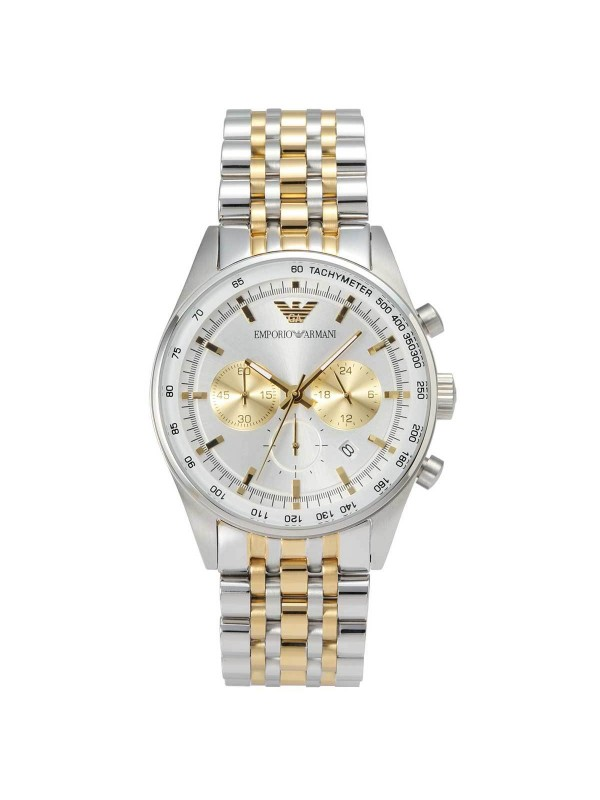 Armani Two-Tone Silver/Gold Chronograph Men's Watch AR6116