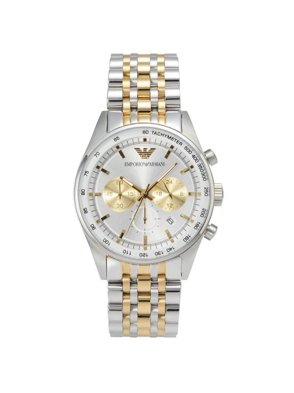 Armani Two-Tone Silver/Gold Chronograph Men's Watch AR6116