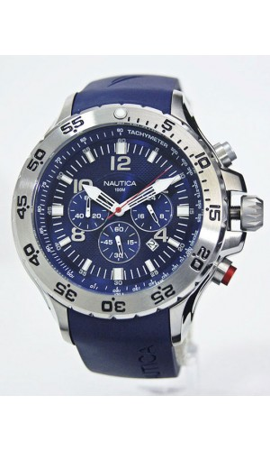 Nautica Mens Blue Chronograph Watch