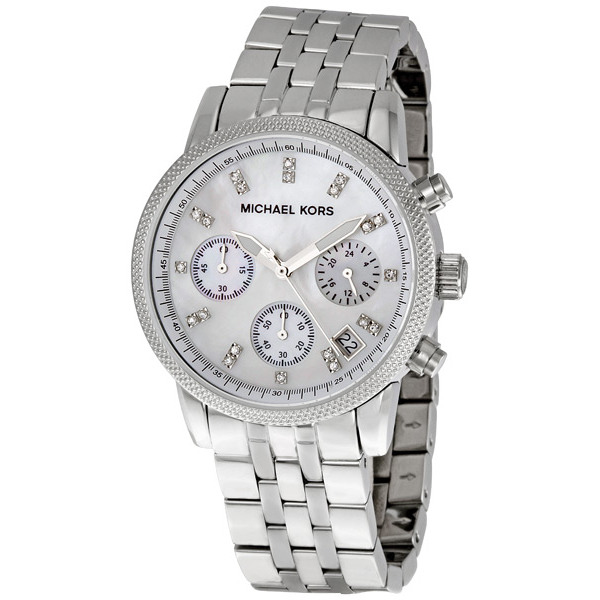 7774f4efe5e8 Michael Kors Ladies Chronograph Mother Of Pearl Stainless Steel Watch MK5020